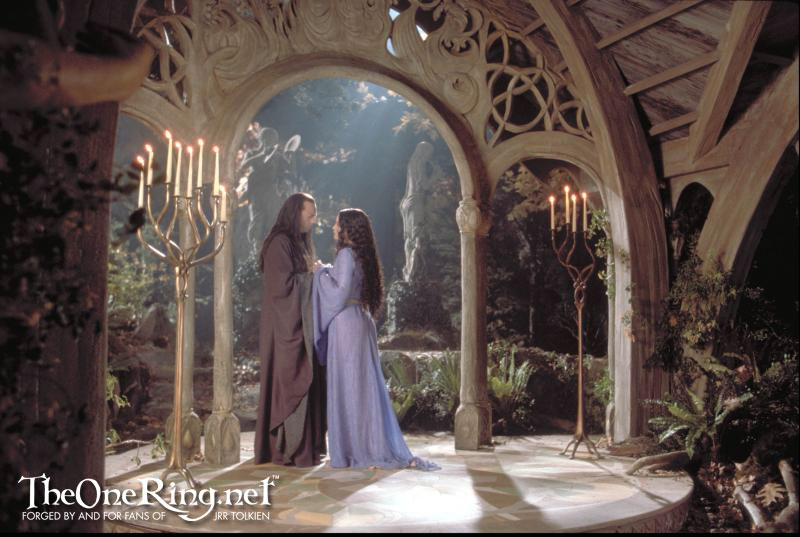 Elrond And Arwen At Rivendell - 800x537, 87kB