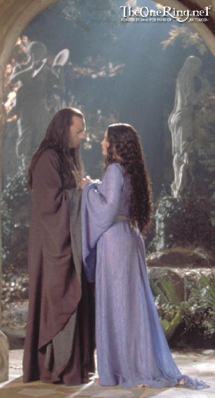 Elrond And Arwen At Rivendell - 433x800, 43kB