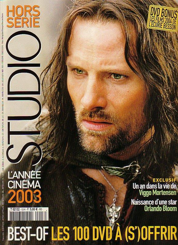 Media Watch: France's 'STUDIO - HORS SERIE' Magazine - Aragorn Cover - 581x800, 170kB