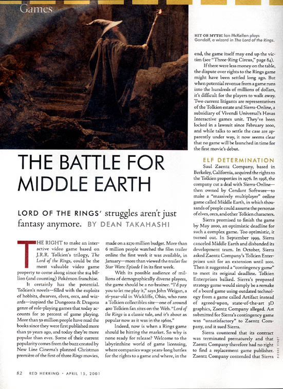 Red Herring Magazine: The Battle for Middle Earth Part 1 - 551x757, 130kB