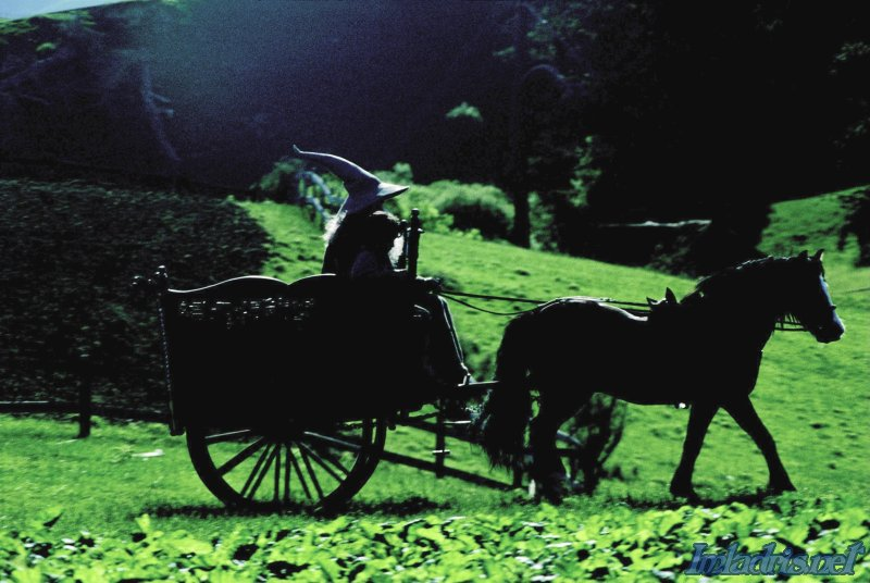 Gandalf and Frodo ride a cart to Bag End - 800x536, 85kB