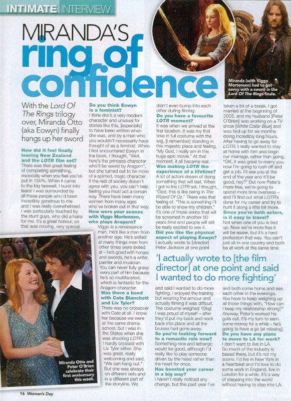 Woman's Day Magazine Interviews Otto - 581x800, 157kB