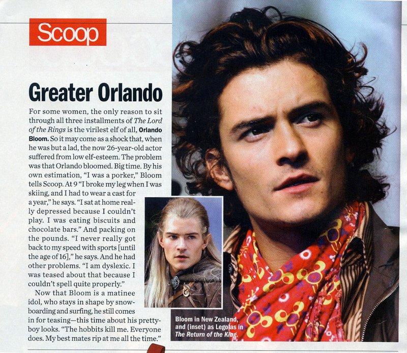 People Magazine Talks to Orlando Bloom - 800x693, 167kB