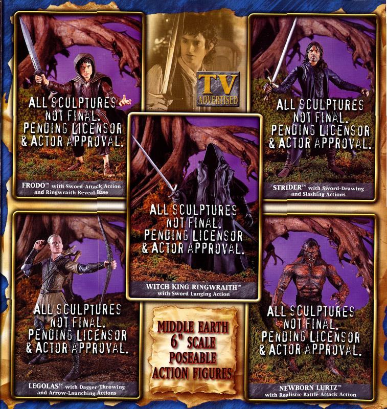 ToyBiz Figures - Frodo, Aragorn, Legolas, Lurtz, Ringwraith - 757x800, 176kB