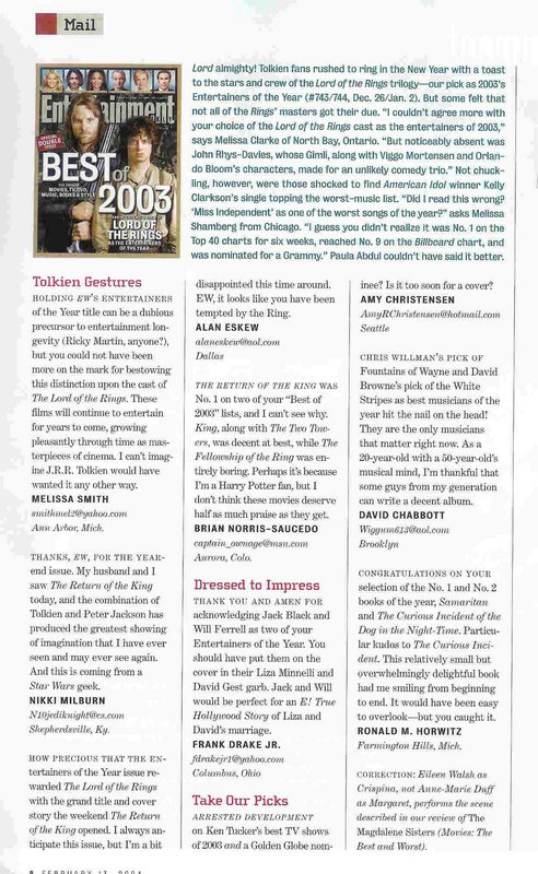 Entertainment Weekly: Tolkien Gestures - 492x800, 130kB