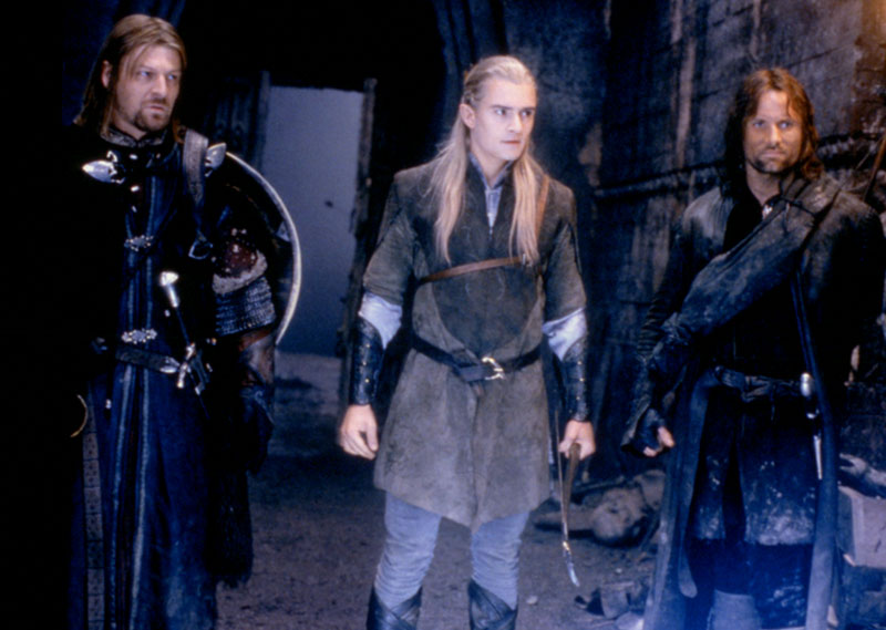 Boromir, Legolas and Aragorn - Cannes 2001 Slide - 800x569, 83kB