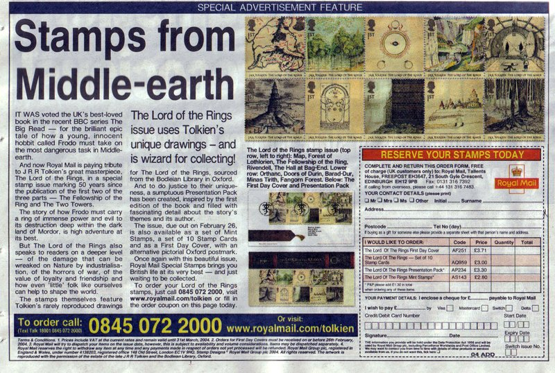 Royal Mail New Tolkien Stamps - 800x538, 174kB