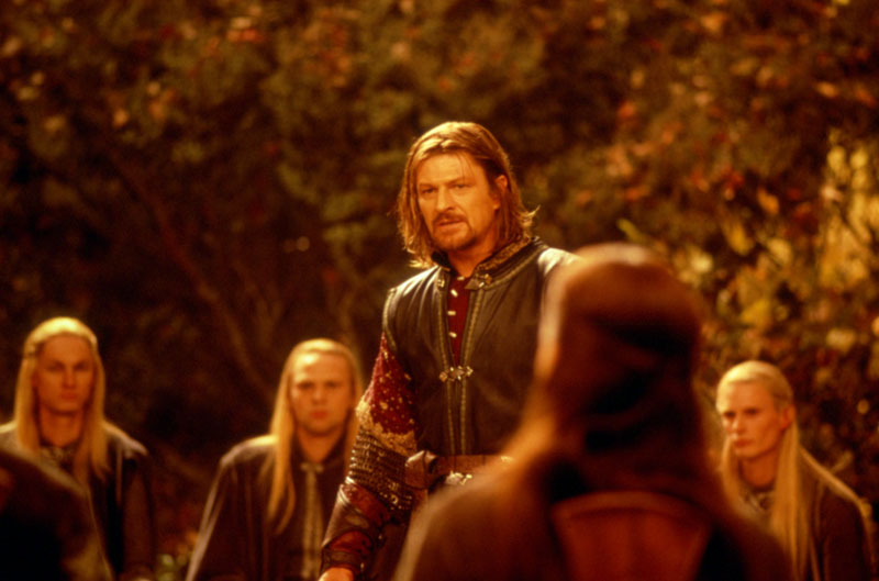 Boromir at the Council of Elrond - Cannes 2001 Slide - 800x529, 71kB