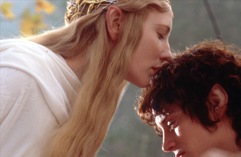 Galadriel and Frodo - Cannes 2001 Slide - 800x521, 65kB