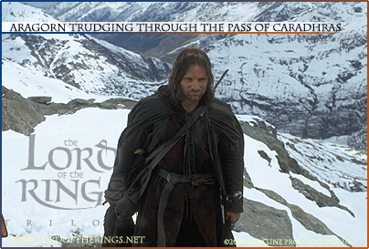 Aragorn On Caradhras - 404x273, 126kB