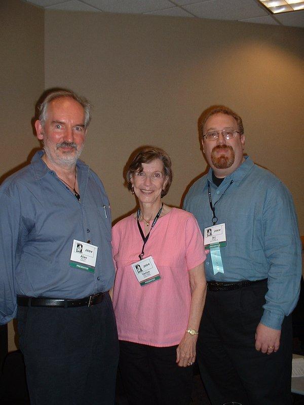 Alan Lee, Dr. Verlyn Flieger, and Dr. Ari Berk at Mythic Journeys Conference - 600x800, 72kB