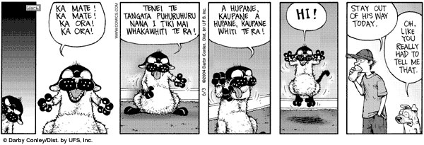 Get Fuzzy Does Maori Haka - 600x205, 46kB