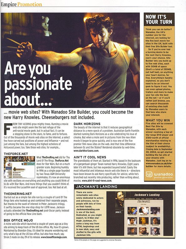 Empire Magazine Talks Fansites - 597x800, 157kB