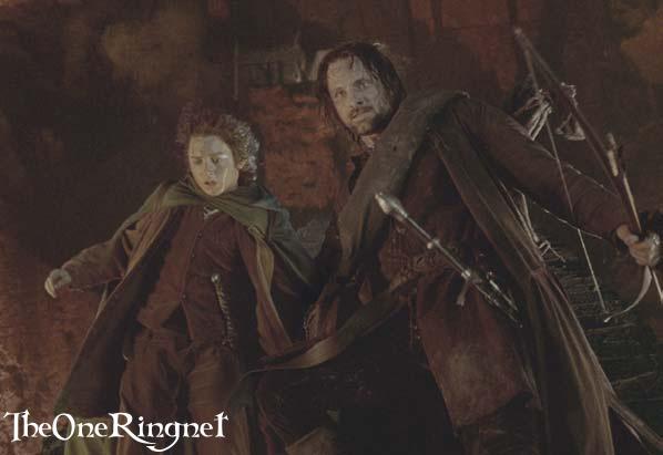 Aragorn And Frodo In Moria - 598x411, 24kB