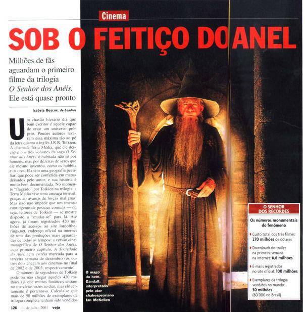 Brazillian Mag Talks LoTR - Page 01 - 604x617, 98kB
