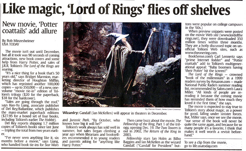 Lord of the Rings Book Sales Booming - 800x493, 172kB