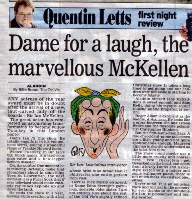 Dame for a laugh, the marvellous McKellen - 770x800, 174kB