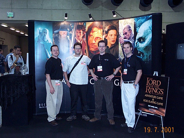 The Decipher Team at Comic-Con 2001 - 640x480, 91kB