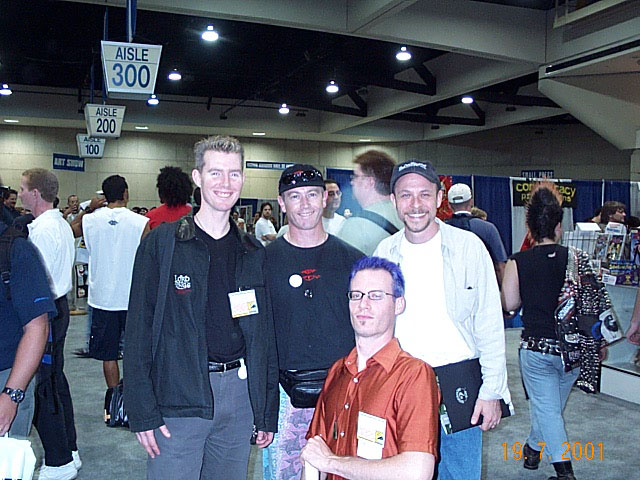 WETA Workshop folks at Comic-Con 2001 - 640x480, 97kB