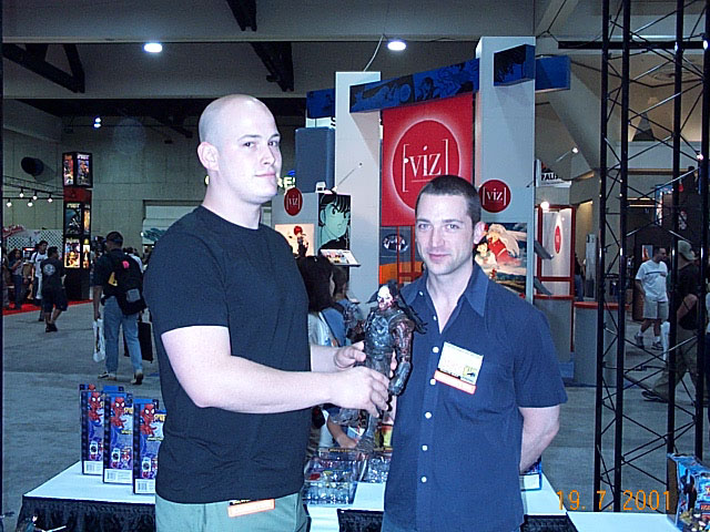 Toy Biz folks at Comic-Con 2001 - 640x480, 104kB
