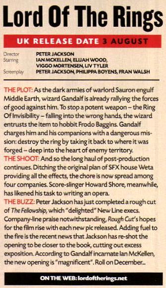 Total Film Magazine Article On FOTR - 335x580, 60kB