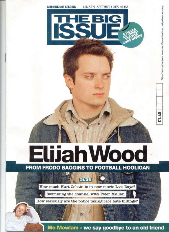 Big Issue Magazine Talks Elijah Wood - 583x800, 105kB