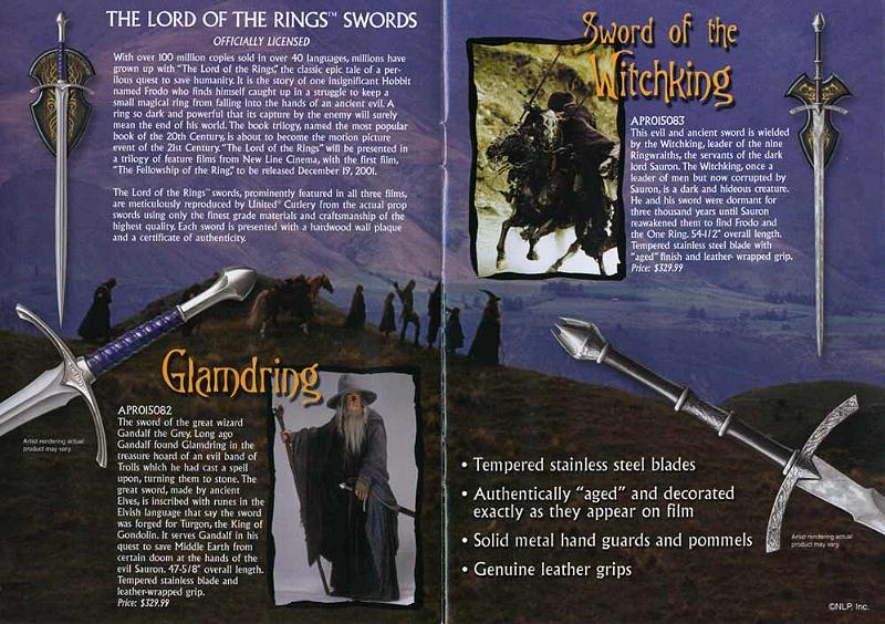 United Cutlery Glamdring and Witchking Brochure - 800x564, 106kB