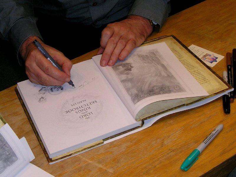 Alan Lee Book Tour Report: Corte Madera, CA - 800x600, 96kB