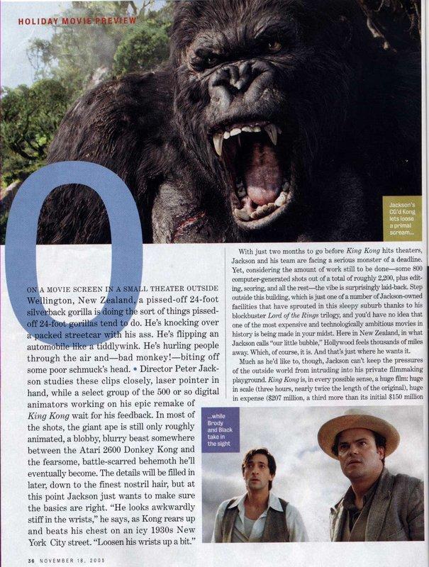 Entertainment Weekly talks King Kong - 605x800, 148kB