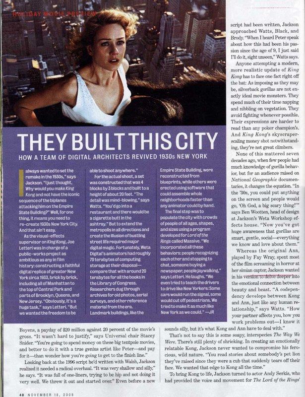 Entertainment Weekly talks King Kong - 615x800, 177kB