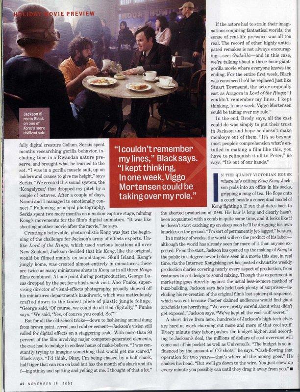 Entertainment Weekly talks King Kong - 612x800, 179kB