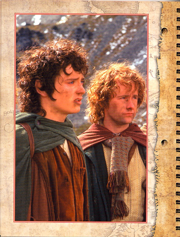 LOTR Student Planner: Frodo and Pippin outside Moria - 609x800, 165kB