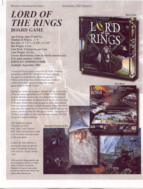 LOTR Board Game Product Information Sheet - 480x632, 363kB
