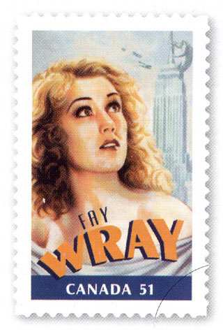 Fay Wray Stamps Available in Canada - 320x478, 47kB