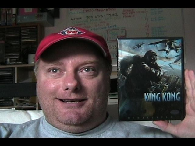 King Kong Fan with his DVD - 640x480, 36kB