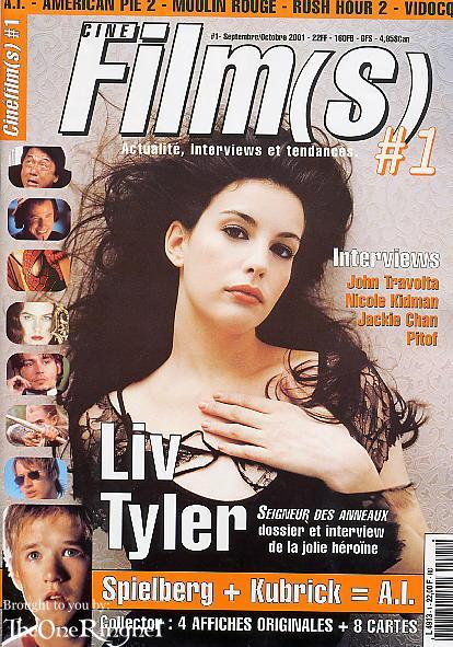 Liv Tyler on the Cover of CinéFilms - 414x591, 75kB