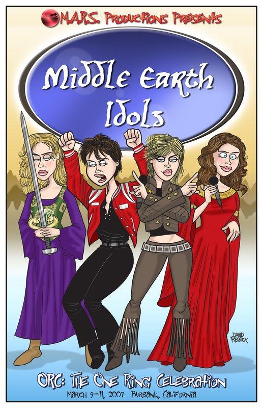 Middle Earth Idols Promo Art! - 517x800, 111kB