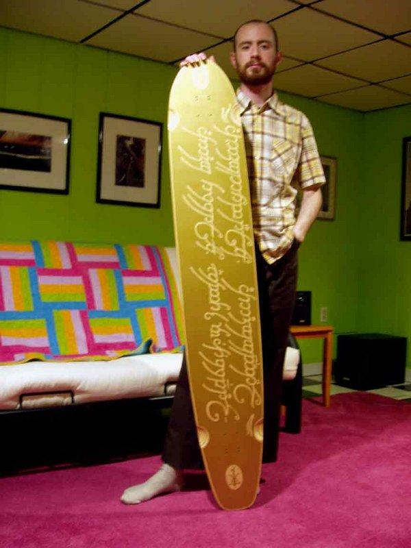 LOTR inspired Longboard Skate Deck - 600x800, 68kB