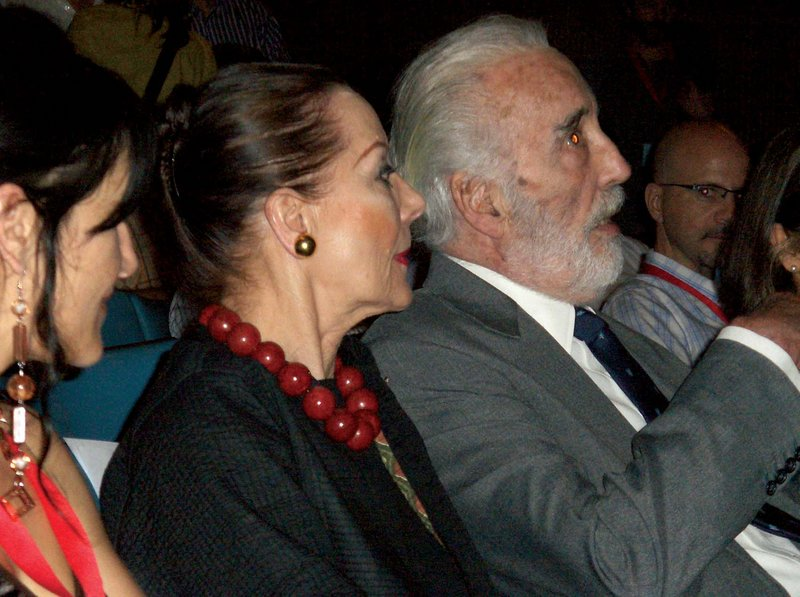 Christopher Lee at the Festroia Film Festival - 800x597, 94kB