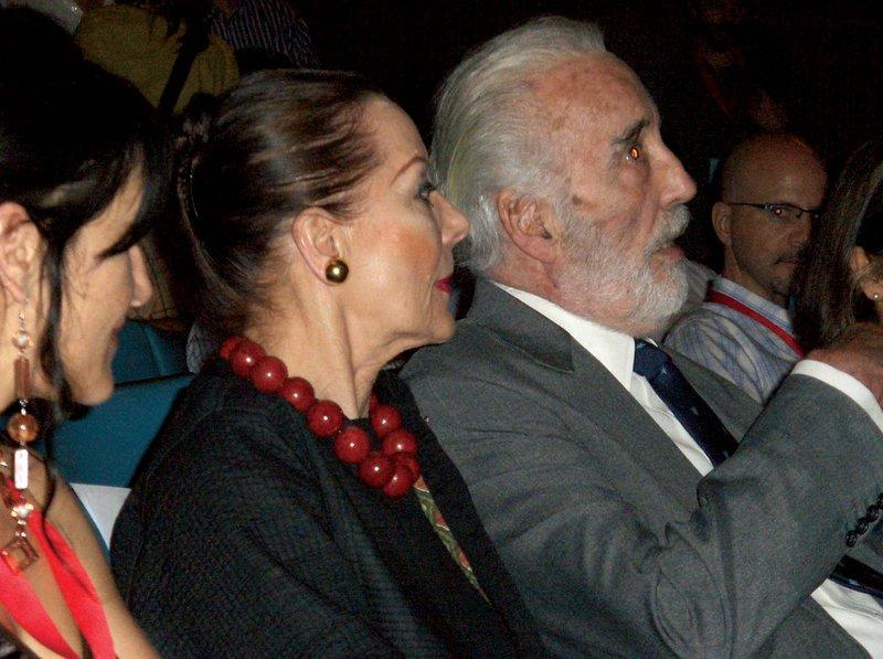 Christopher Lee at the Festroia Film Festival - 800x597, 94kB