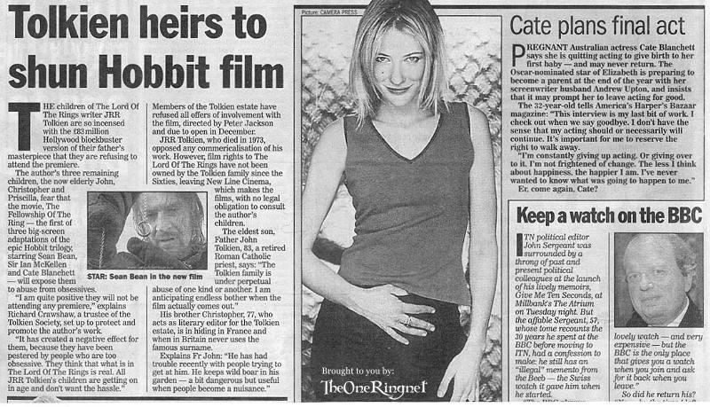 Tolkien Heirs to Shun Tolkien Film - 800x459, 113kB