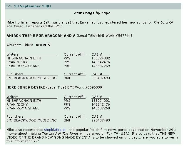 Enya Songs for LOTR - 643x510, 50kB