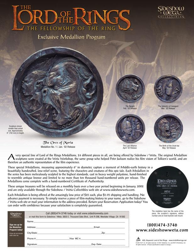 LOTR Medallions - Official Flyer - 618x800, 140kB