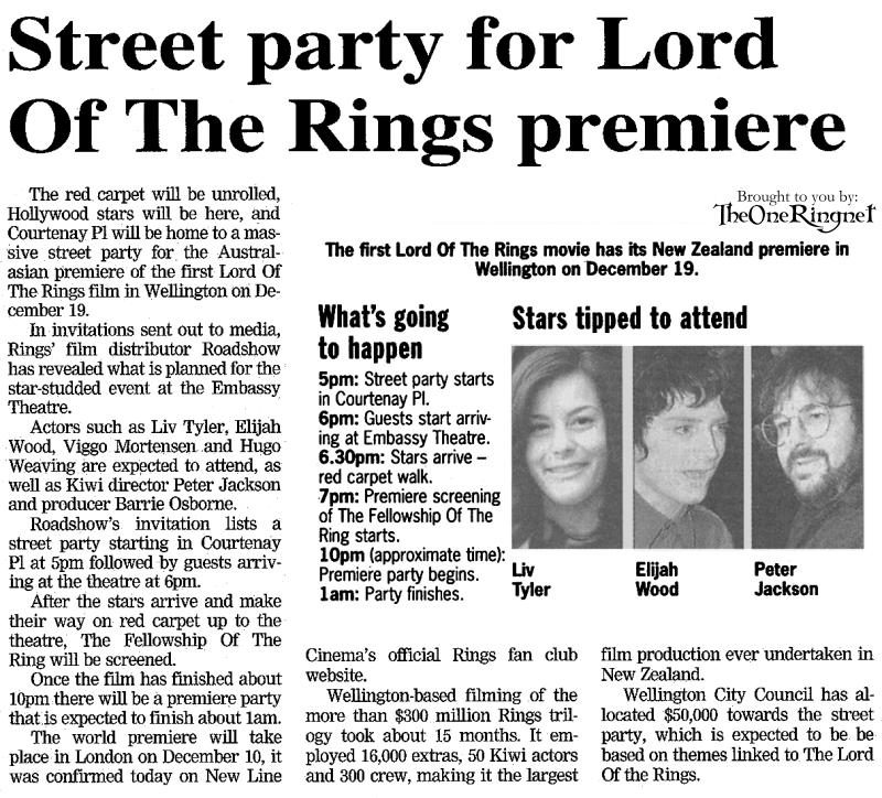 Street party in Wellington at New Zealand premiere of The Fellowship of the Ring - 800x724, 146kB