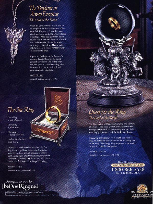 Diverse LotR merchandise from Nobel - 599x800, 124kB
