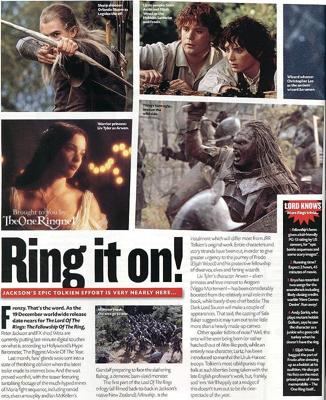 Ring It On - Total Film Reports On FoTR Hype - 652x800, 168kB