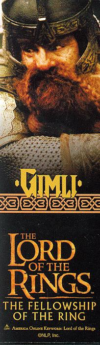 LOTR Bookmark - Gimli - 204x699, 52kB