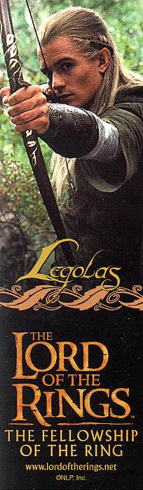 LOTR Bookmark - Legolas - 204x696, 51kB