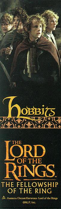 LOTR Bookmark - Hobbits - 204x699, 46kB