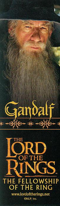 LOTR Bookmark - Gandalf - 204x699, 48kB